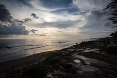 Cloudy Sunset in Bali (pictcorrect) Tags: bali island echo beach canggu surfers surfing sunset wide angle