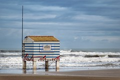 Help station n.2 Plage des chalets (bertrandpoux) Tags: gruissan aude occitanie help station beach winter chinon 135mm
