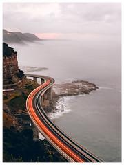 Seacliff Bridge (mezuni) Tags: clifton newsouthwales australia au bridge trails lights le seacliff sea mist