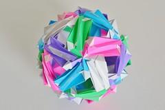 Nabatea Kusudama (Byriah Loper) (Byriah Loper) Tags: origami origamimodular modularorigami modular kami kusudama byriahloper paperfolding paper polyhedron geometric