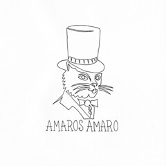 AMAROS AMARO (Chad Coombs) Tags: cchadcoombs chad coombs unsceneart asingleline oneline oneliner amaro cat ink marker booze bitter alcohol party drink naked nude topless pantless clothed fully none neither flash traditional tattoo tshirt company brand design artist illustration