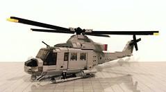UH-1 Y Venom (Babalas Shipyards) Tags: lego model helicopter rotors moc usmc marines bell uh1 huey
