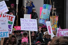 WomensMarchOlympia2016-6254LR (Madeline McIntire Houston) Tags: clothing colorphotograph crowd crowding demonstrating demonstration event events face group hat olympia people protestsign pussyhat sign thurstoncounty washingtonstate washingtonstatecapitolcampus winter womensmarch protest