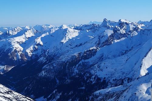 Valluga: Blick auf die Zugspitze