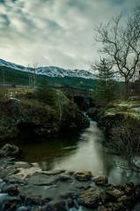 Honeymoon Bridge (ieuanrogers) Tags: landscape loch lomond longexposure scotland sky mountains bw west argyle bute water