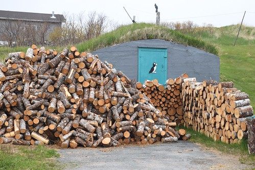 Firewood and a Root Cellar, Elliston, Newfoundland