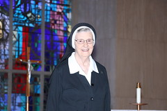 Bishop Persico bestows God's abundant blessings upon Sr. Mary Andrew for her 30 years of love and service to the Seminary.tter Mary Andrew RSM
