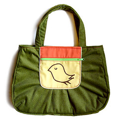Snotty Bird Bag (Olive Green/Yellow) (my little odd forest) Tags: bird bag design forestprints littleoddforest handbag corduroy tote