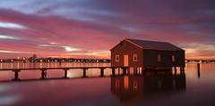crawley boat shed (jaeger mccallum) Tags: sunrise river boat swan shed perth boatshed crawley onetopfave