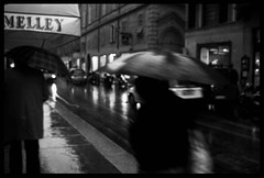 Parma4 (Kekun) Tags: street urban blackandwhite bw italy rain umbrela