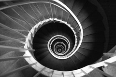 DNA? (liber) Tags: bw paris france stairs spiral stair dna helix adn saveddmu dmugable