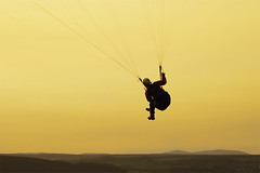 Evening soaring (: HimUpNorth :) Tags: scotland flying highland soaring paraglide