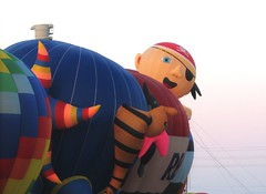 Peeking Around (Celtic Dragonfly) Tags: tag3 taggedout tag2 tag1 hotairballoon