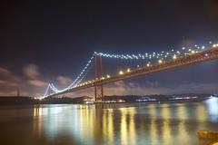 Ponte Sobre o Tejo by Night (liber) Tags: bridge reflection portugal delete10 night reflections delete9 delete5 delete2 golden gate o delete6 delete7 lisbon save3 delete8 delete3 delete delete4 save save2 ponte save4 tejo sobre