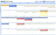 Google Calendar - Month view