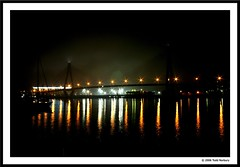 ANZAC Bridge on a foggy, wet night. (norbography) Tags: sydney vote anzacbridge blackwattlebay seeingsydneysoloshow toddnorbury