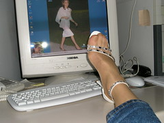 White sandals 4 (HHL) Tags: wearing high shoes highheels heels stiletto postyourshoes heelsformen