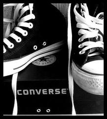 [ My Converse ] (Valentina Saluto) Tags: bw white black blackwhite shoes noir bn converse bianco blanc nero allstar bianconero myshoes scarpe valentina valentinasaluto