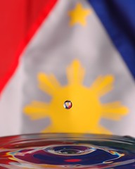 Philippine Flag (BeeBoy) Tags: sun water june drops day flag philippines drop 12 independence philippineflag philippine redyellowblue bandila philippineindependence