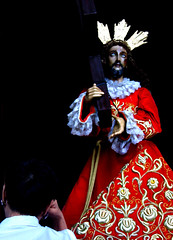 The Lady And The Christ (chriscab) Tags: statue religious women christ faith religion jesus saints churches simbahan jesuschrist lent catholicimages