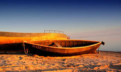 Boats (valentins_k) Tags: sunset sea summer sky beach photoshop boat sand colorful latvia explore abigfave fcsea