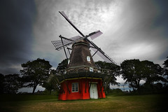 Dark Mill (coldmountain) Tags: windmill copenhagen denmark kastellet