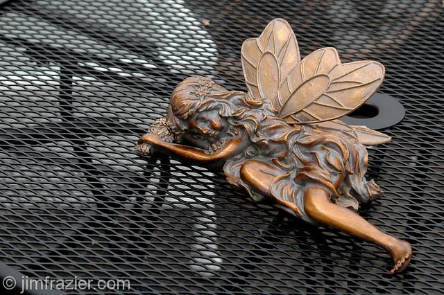 Sleeping Fairy on Patio Table