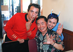 Photo of Marc Felion, George Takei and Fausto Fernós