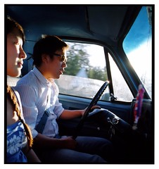 back on the road (under one sky) Tags: viet mamiya6 ontheroad darcey fujipro400h friendscomrades