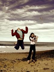 Go ahead and jump! (Earlette) Tags: family winter sea sky beach water kids children fun interestingness high jumping sand bravo australia 2006 nsw capture leaping oldbar biweeklypeople