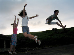 IMG_7873 () Tags: life friends summer people beach digital fun taiwan 2006 summertime canonpowershots50  jumpjumpjump