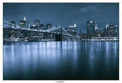 Another touch of Blue (Arnold Pouteau's) Tags: nyc newyorkcity blue newyork brooklyn night river manhattan dumbo