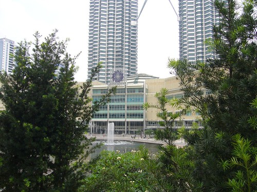 Suria KLCC shopping centre at the base of the Petronas Twin Towers in KL, Malaysia