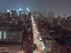 Manhattan, Park Avenue (v0v) Tags: park street new york city nyc light usa cars night america buildings lights state manhattan united busy nightlife alive states avenue bustling