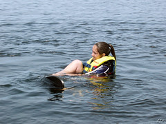 this is one determined girl (christopher.jeffry) Tags: canada steph seniorweek highschool waterskiing honeyharbour flickrfs centralbuckswest