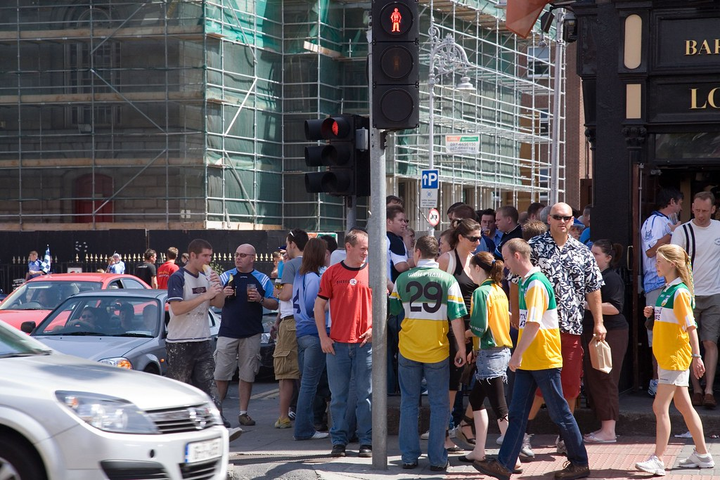 ON THEIR WAY TO THE MATCH