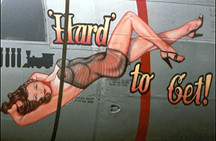 "Nose Art, B-26 Marauder ""Hard to Get"" 1944 (divemasterking2000) Tags: get art vintage nose artwork military wwii hard ww2 bomber pinup pinups 1944 noseart bombers marauder b26 hardtoget"