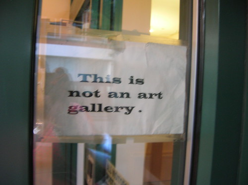 this is not an art gallery