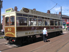 Blackpool tram - 40 (Terry Wha) Tags: uk england tram lancashire fleetwood tramcar nwengland tramsunday fleetwood2006