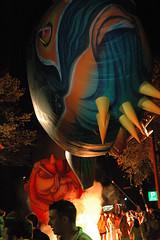 Colourful fish (caribb) Tags: fish canada festival balloons french lights funny comedy montral quebec montreal shrimp parade qubec octopus haha magical franais cirquedusoleil perle justforlaughs justepourrire comedyfestival balloonparade leperle