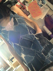 DSC01774 (veroniquecreddo) Tags: fashion dress recycled jeans denim cloth reconstructed sottoveste trashion