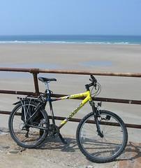 Ma bike à la grève St Ouên