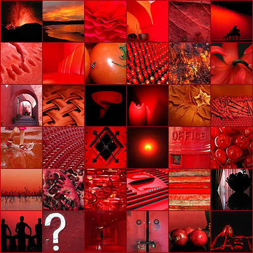 rojo sobre negro (mosaico) / red on black (mosaic)