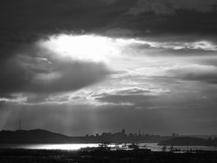 Calm of the Storm B&W (OaklandMofo) Tags: white storm black port oakland bay san francisco view area ocvbphoto08