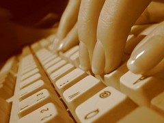 Keyboard in action by lapideo, on Flickr