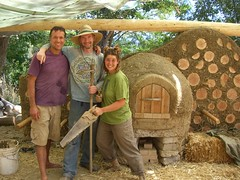 Happy Together (Robbi Baba) Tags: cob strawbale naturalbuilding cobbing whiteoakfarm cobbingtogether