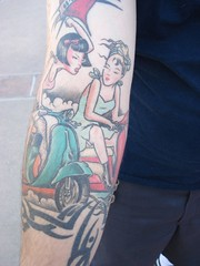 Killer Canadian tattoo (Knitterista) Tags: tattoo vespa scooter lambretta amerivespa scooterstuff