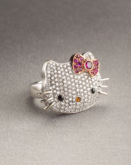 Anillo de Diamantes Hello Kitty