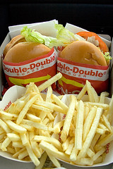 Double-Doubles (Heather Leah Kennedy) Tags: california food potatoes beef hamburgers cheeseburger fries hamburger doubledouble innout cheeseburgers