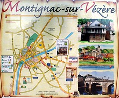Map: Montignac, Dordogne (mke1963) Tags: france place map dordogne montignac